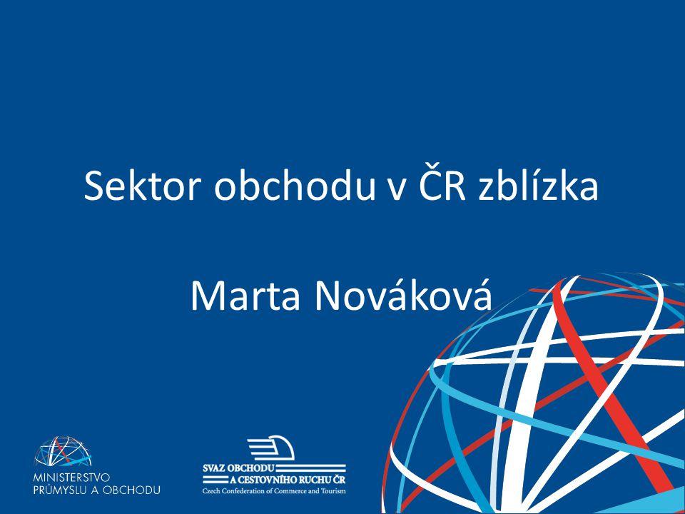 Sektor obchodu v ČR zblízka Marta Nováková