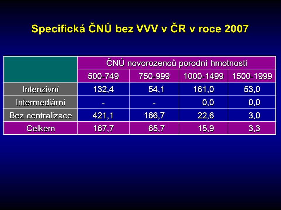 Specifická ČNÚ bez VVV v ČR v roce 2007