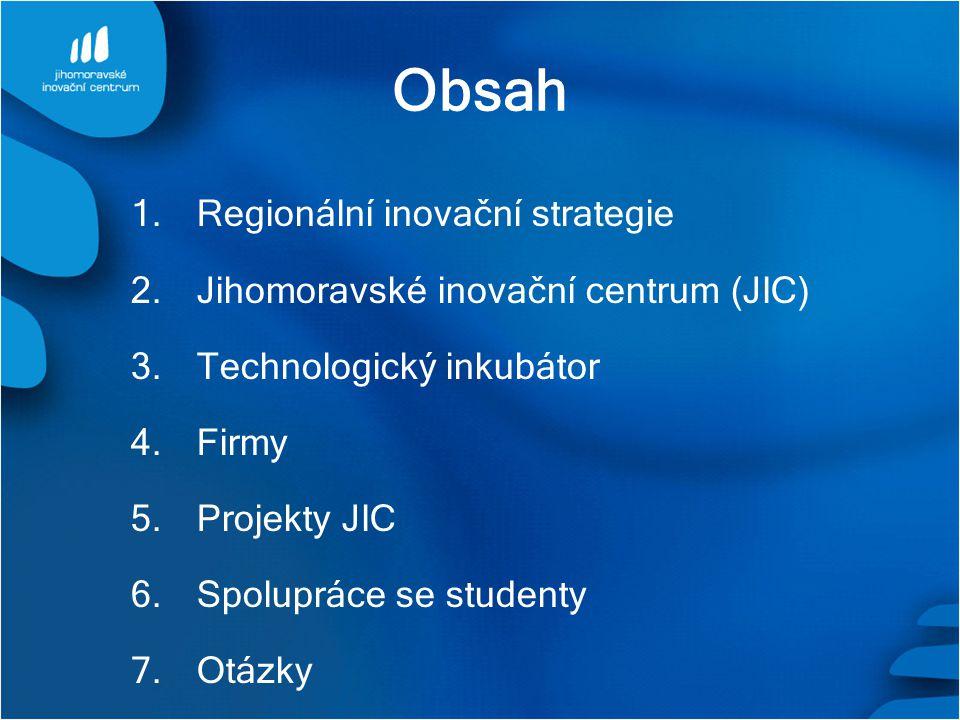 Obsah Regionální inovační strategie