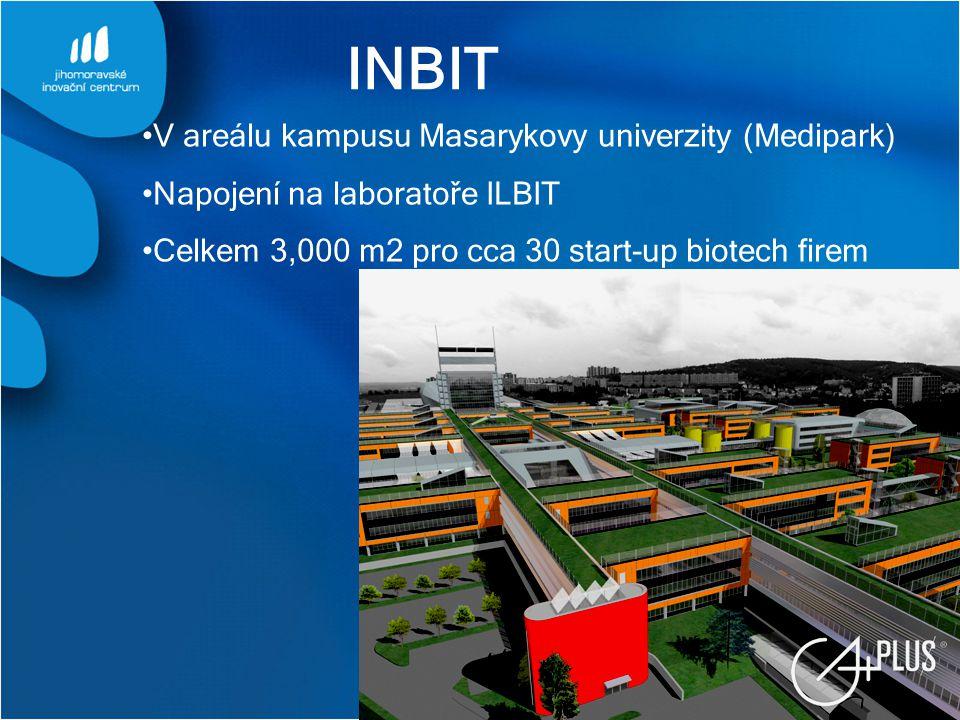 INBIT V areálu kampusu Masarykovy univerzity (Medipark)