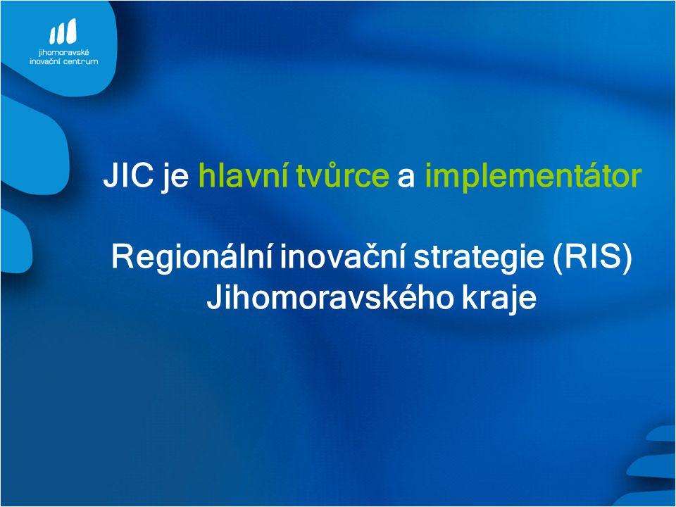 JIC je hlavní tvůrce a implementátor Regionální inovační strategie (RIS) Jihomoravského kraje