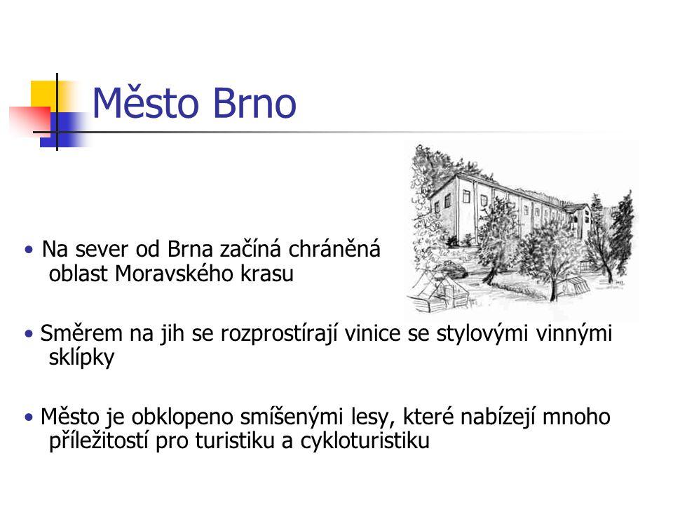 Město Brno • Na sever od Brna začíná chráněná oblast Moravského krasu