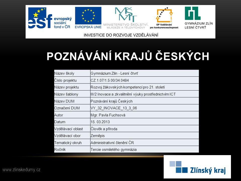 Poznávání krajů českých