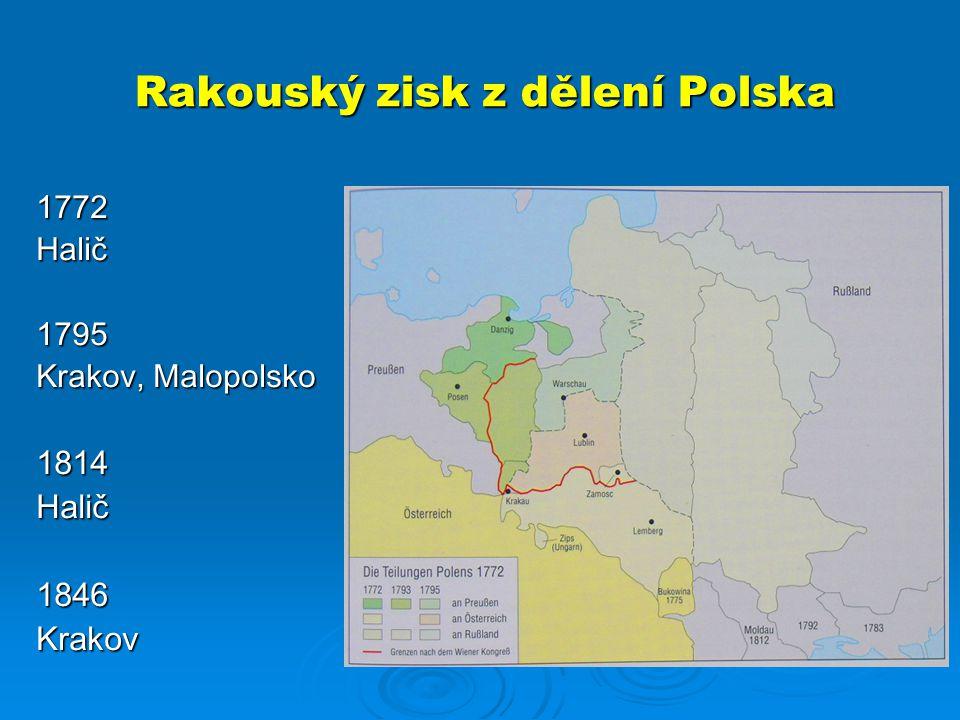 Rakouský zisk z dělení Polska
