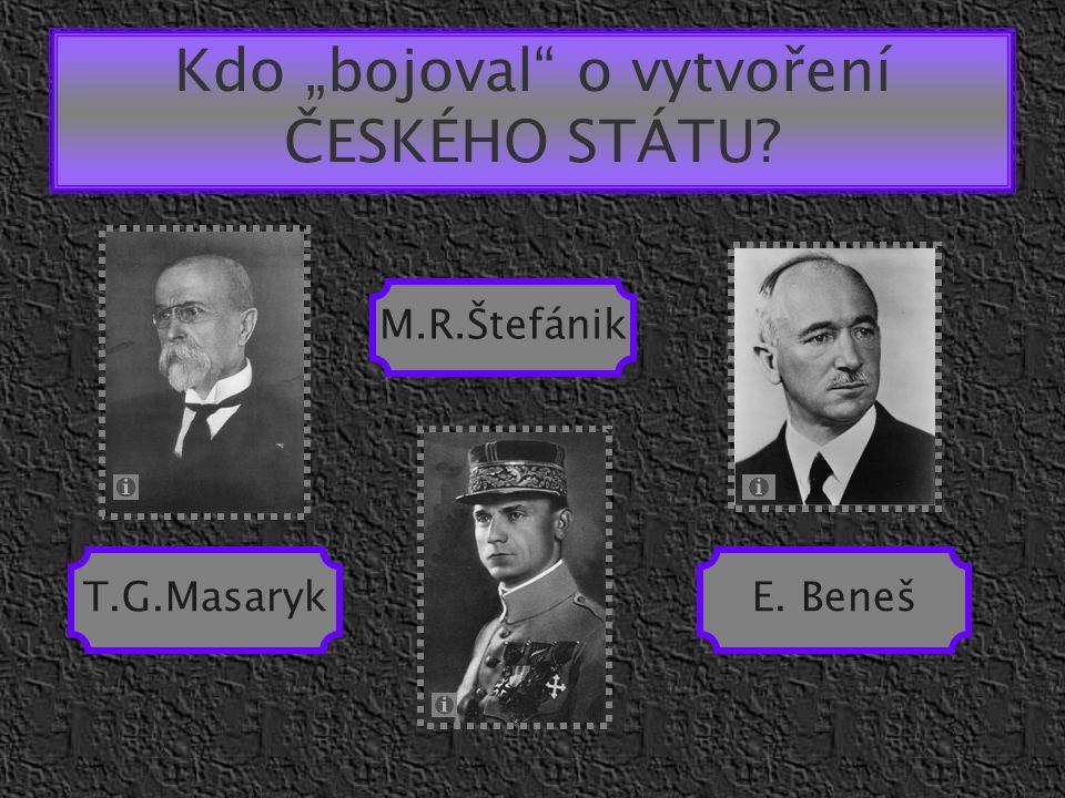 """Kdo """"bojoval o vytvoření ČESKÉHO STÁTU"""