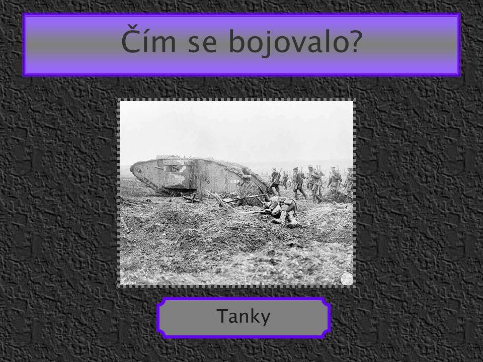 Čím se bojovalo Tanky