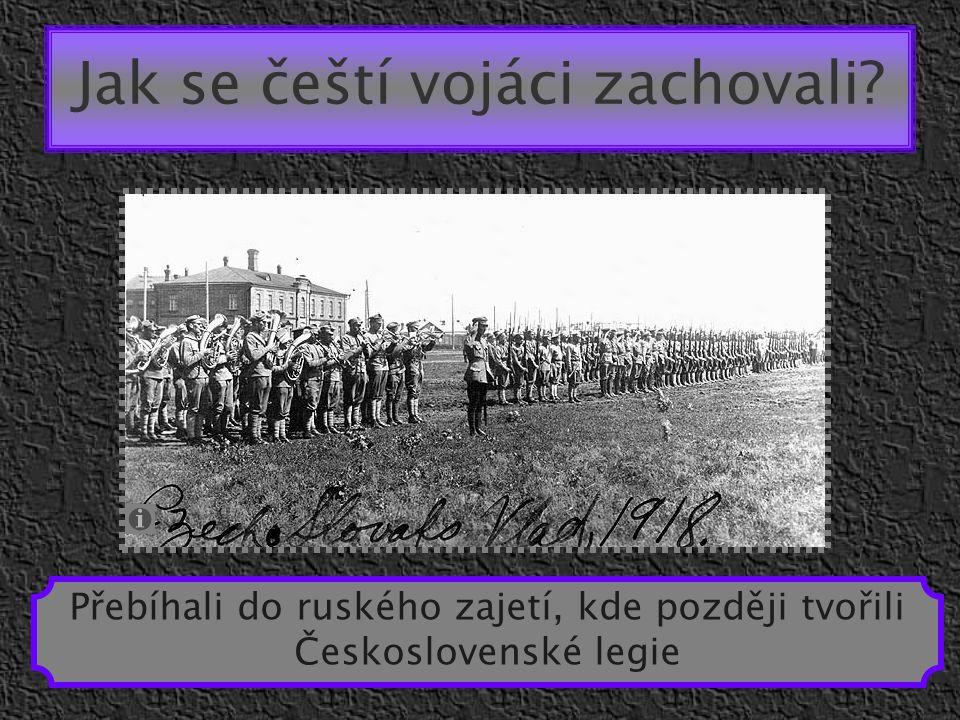 Jak se čeští vojáci zachovali