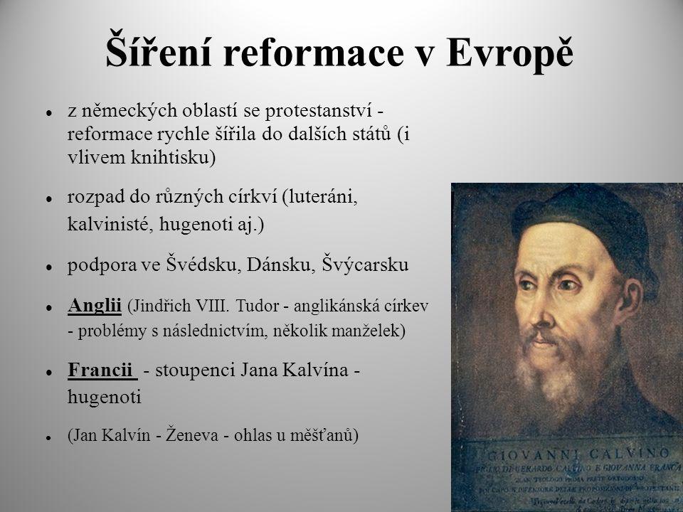 Šíření reformace v Evropě