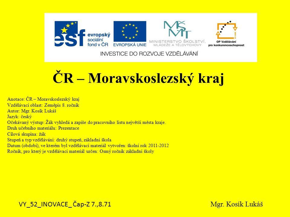 ČR – Moravskoslezský kraj