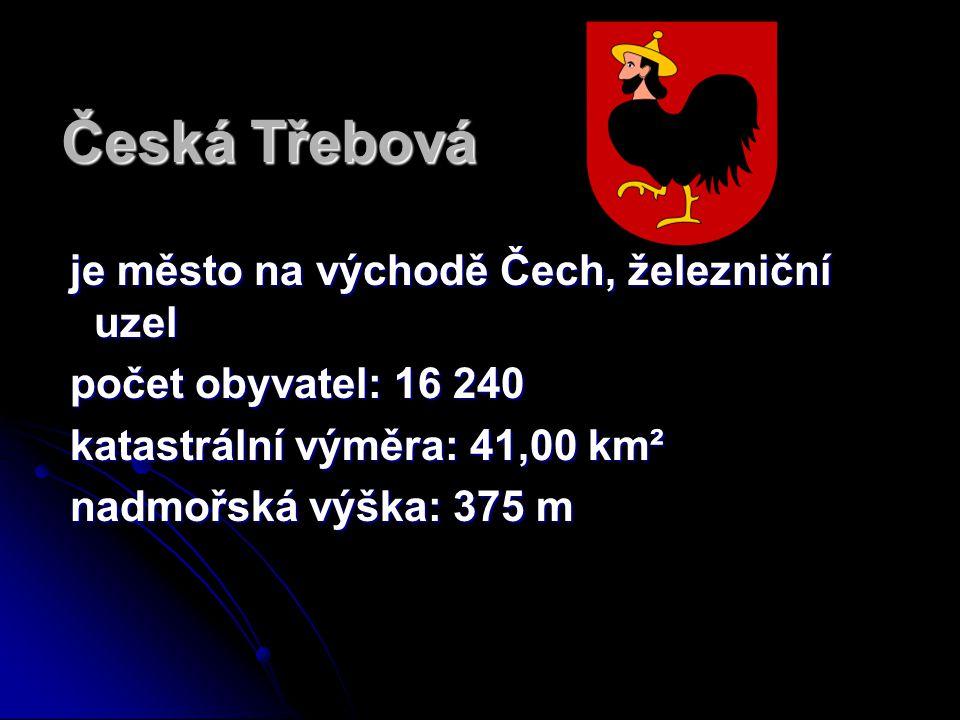 Česká Třebová je město na východě Čech, železniční uzel