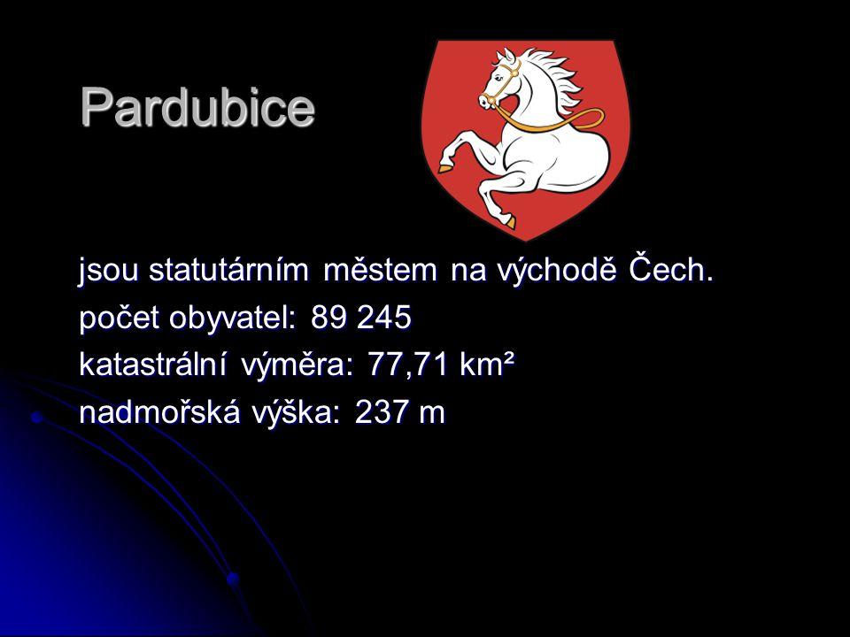 Pardubice jsou statutárním městem na východě Čech.