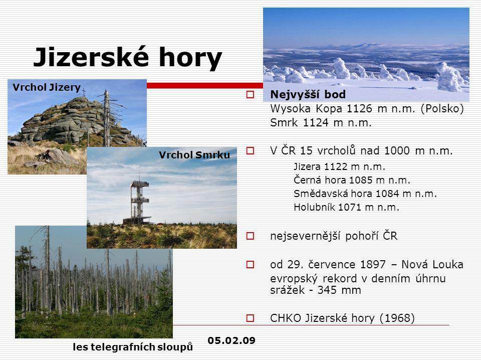 Jizerské hory Nejvyšší bod Wysoka Kopa 1126 m n.m. (Polsko)