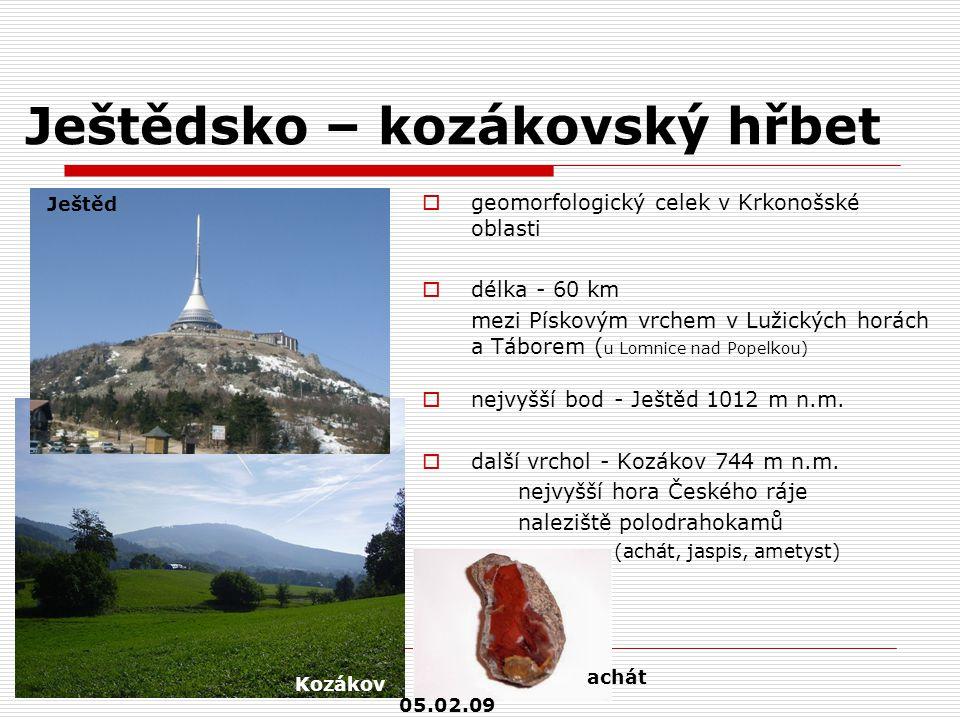 Ještědsko – kozákovský hřbet