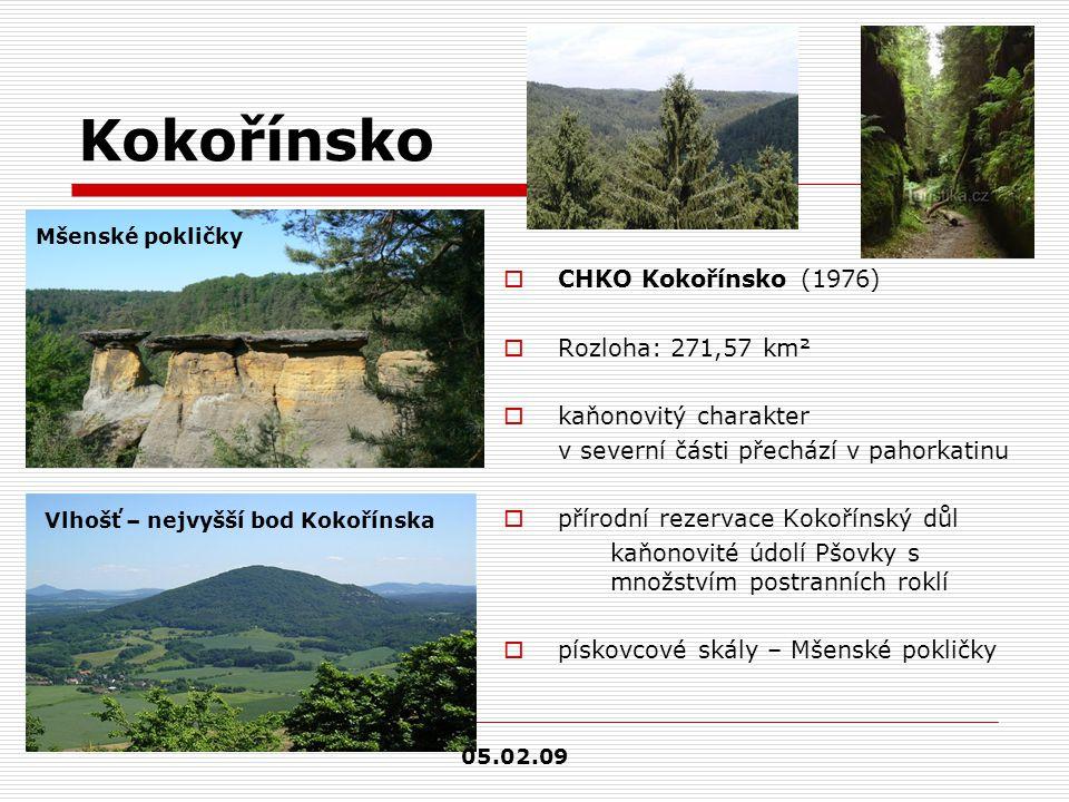 Kokořínsko CHKO Kokořínsko (1976) Rozloha: 271,57 km²