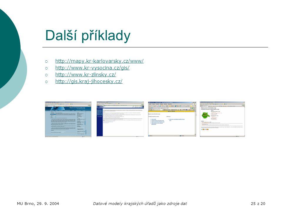 Datové modely krajských úřadů jako zdroje dat