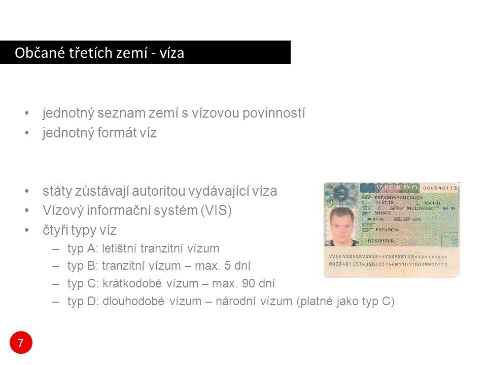 Občané třetích zemí - víza
