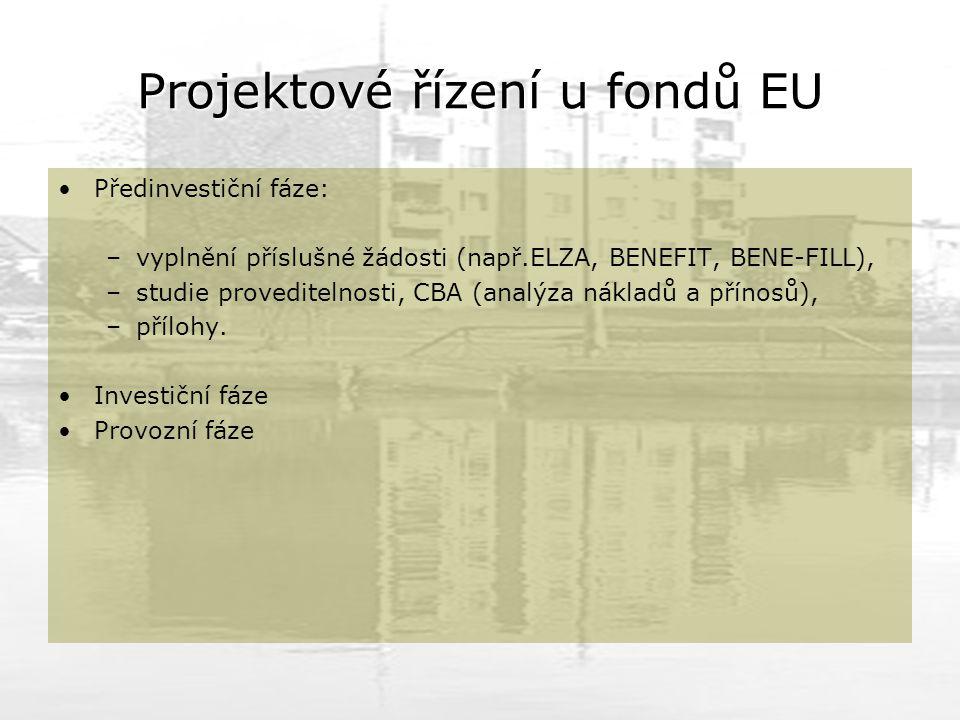 Projektové řízení u fondů EU