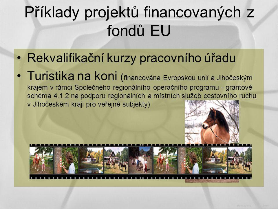 Příklady projektů financovaných z fondů EU