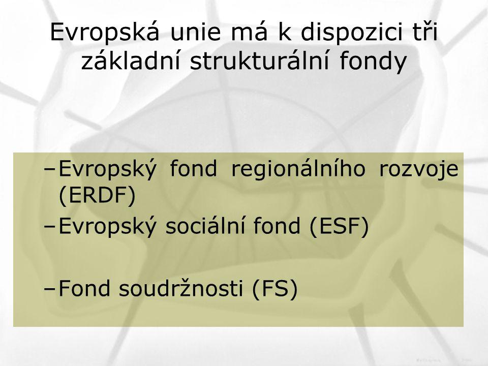 Evropská unie má k dispozici tři základní strukturální fondy