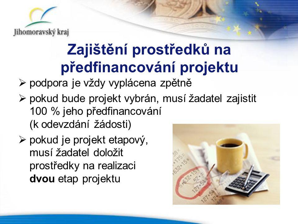 Zajištění prostředků na předfinancování projektu