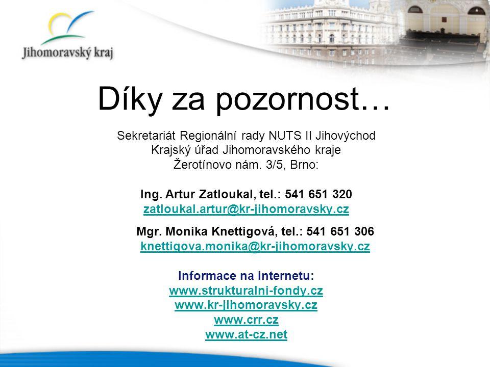 Ing. Artur Zatloukal, tel.: 541 651 320 Informace na internetu: