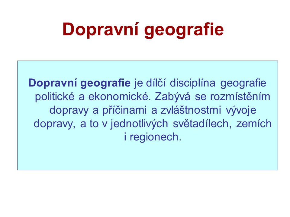 Dopravní geografie
