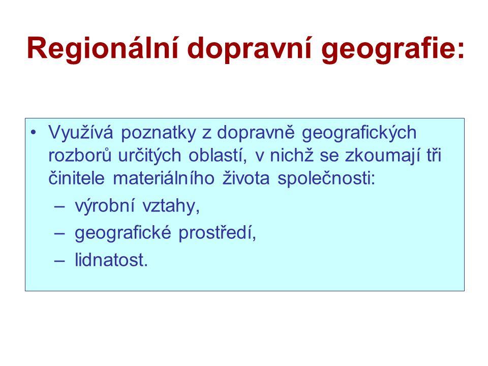 Regionální dopravní geografie: