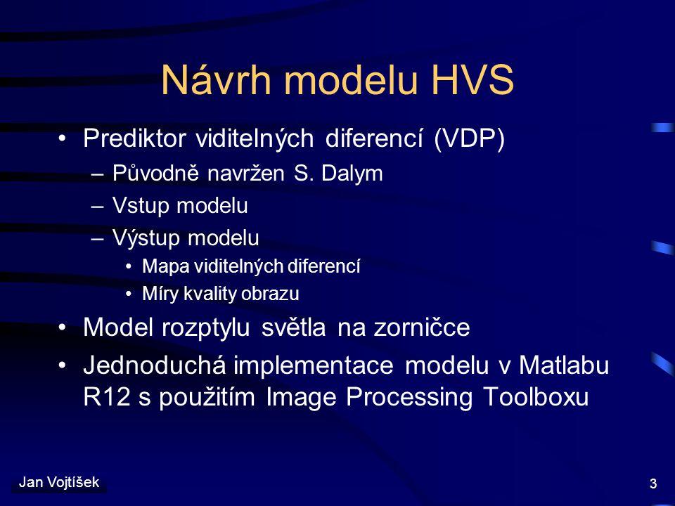 Návrh modelu HVS Prediktor viditelných diferencí (VDP)