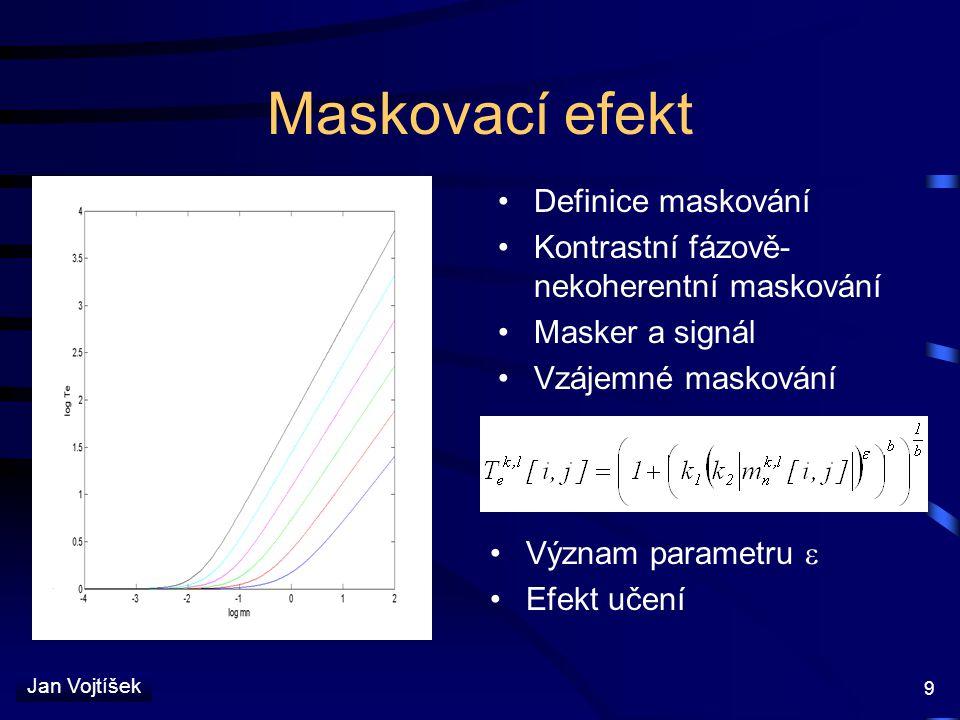 Maskovací efekt Definice maskování