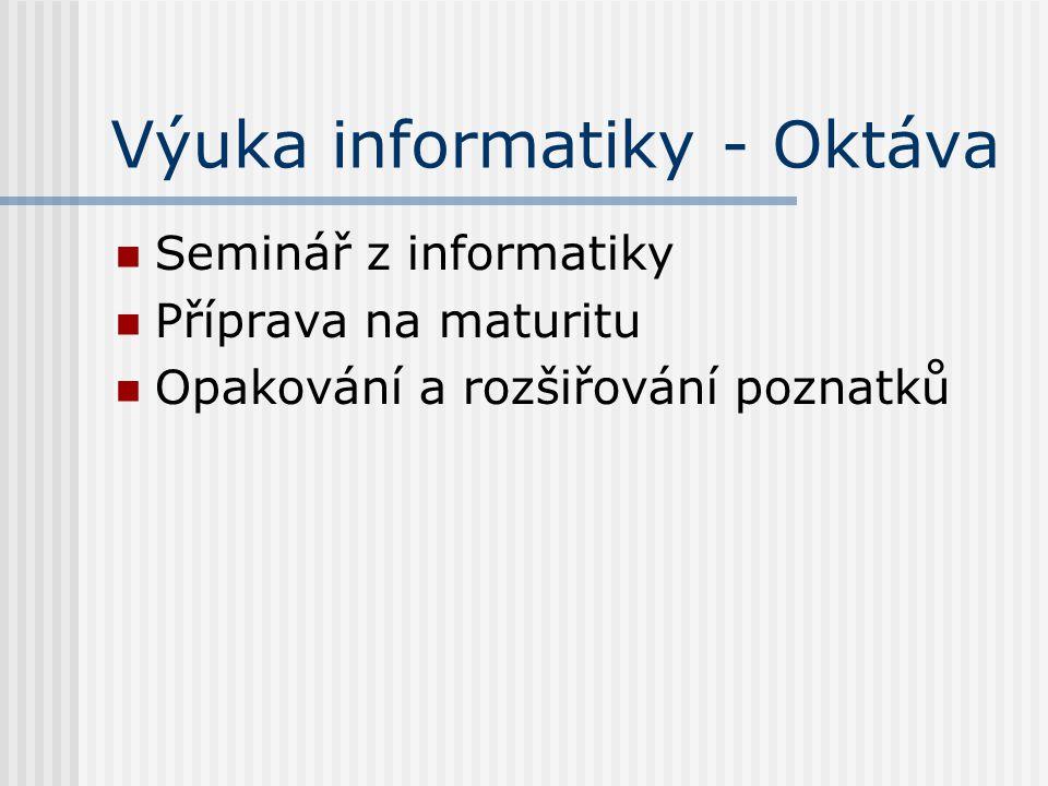 Výuka informatiky - Oktáva