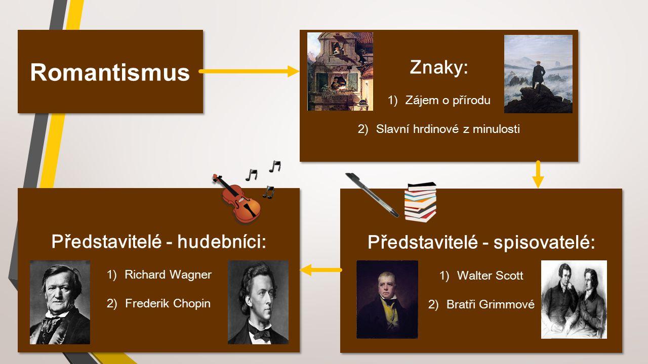 Představitelé - hudebníci: Představitelé - spisovatelé: