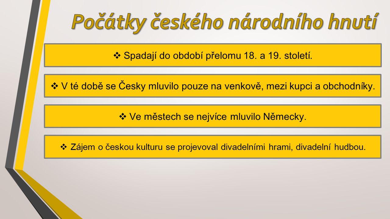 Počátky českého národního hnutí