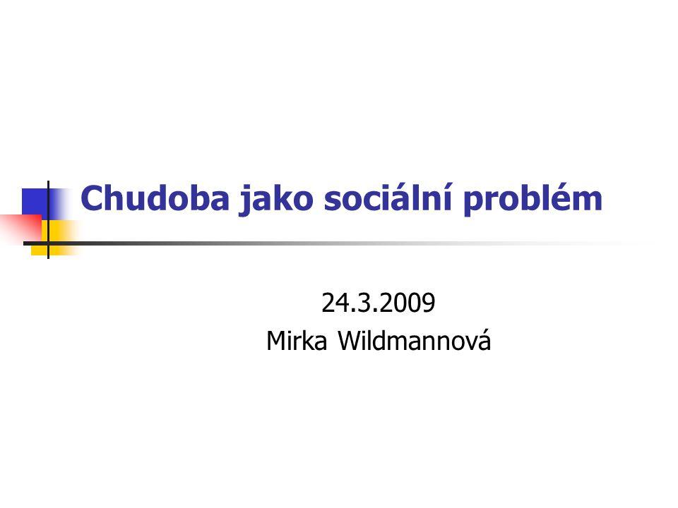 Chudoba jako sociální problém