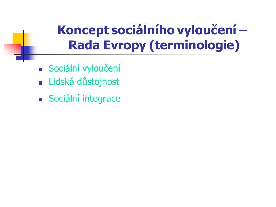 Koncept sociálního vyloučení – Rada Evropy (terminologie)