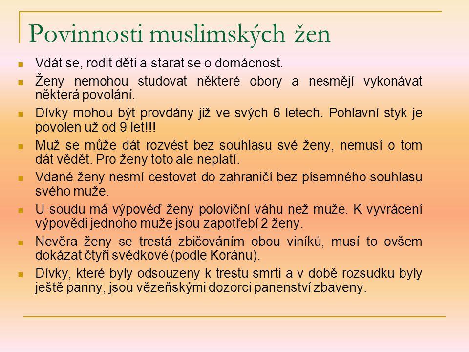Povinnosti muslimských žen