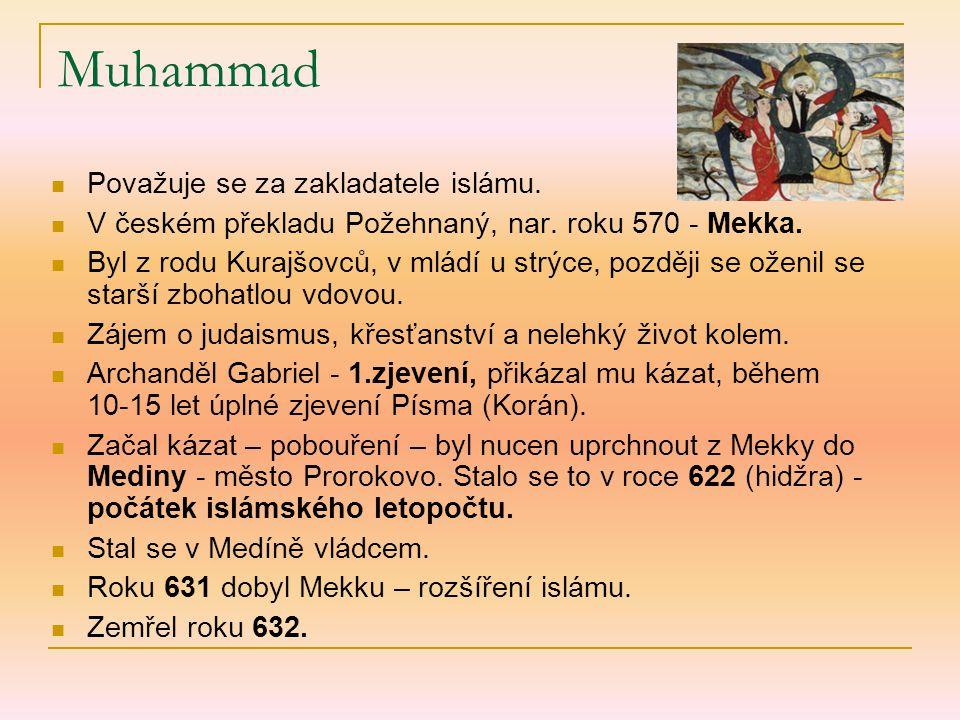 Muhammad Považuje se za zakladatele islámu.