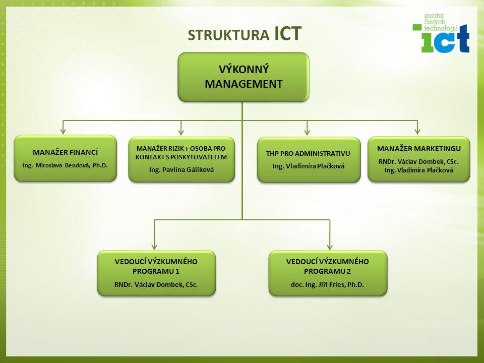 STRUKTURA ICT VÝKONNÝ MANAGEMENT MANAŽER FINANCÍ MANAŽER MARKETINGU