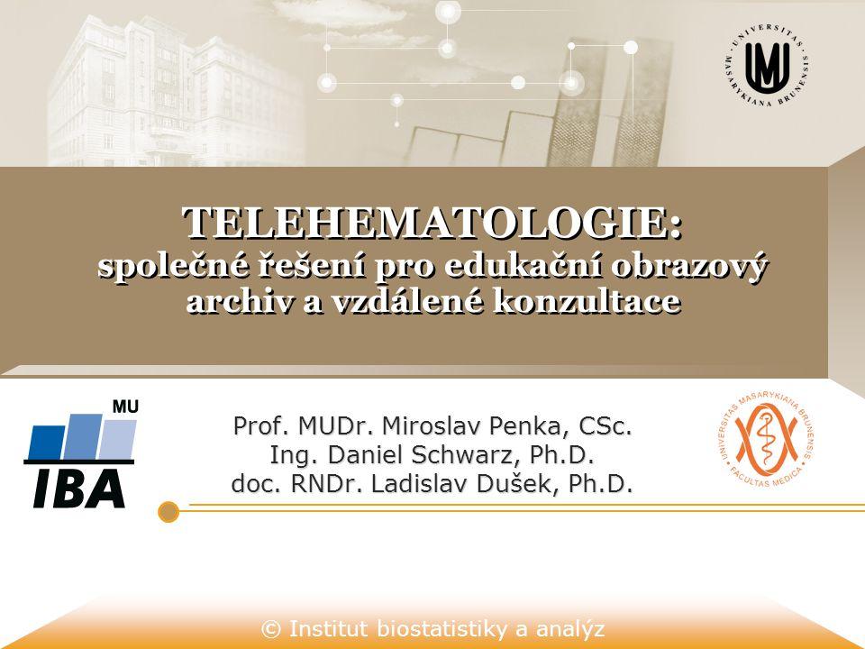 TELEHEMATOLOGIE: společné řešení pro edukační obrazový archiv a vzdálené konzultace