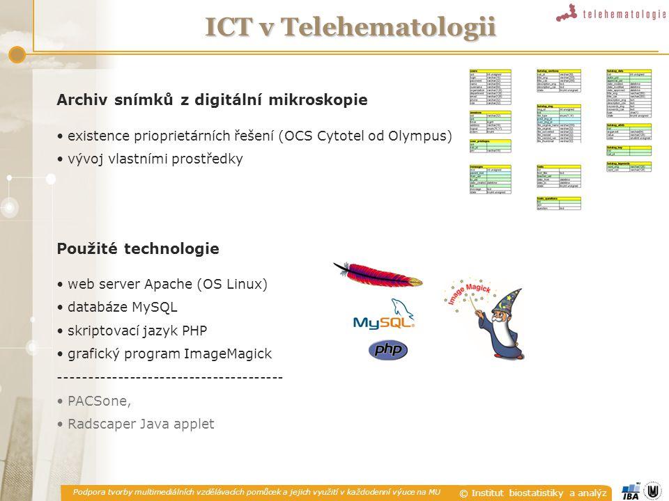 ICT v Telehematologii Archiv snímků z digitální mikroskopie