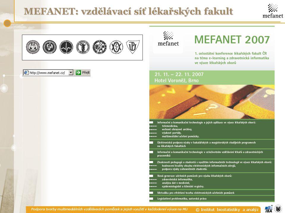 MEFANET: vzdělávací síť lékařských fakult