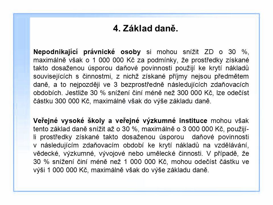 4. Základ daně.