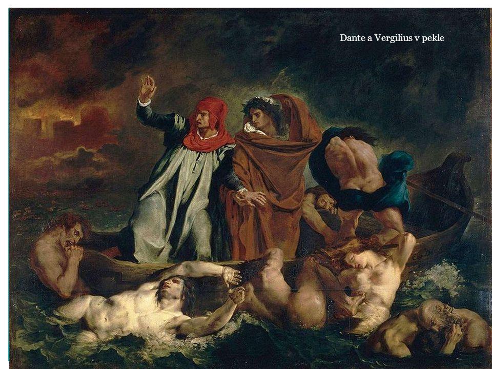 Dante a Vergilius v pekle
