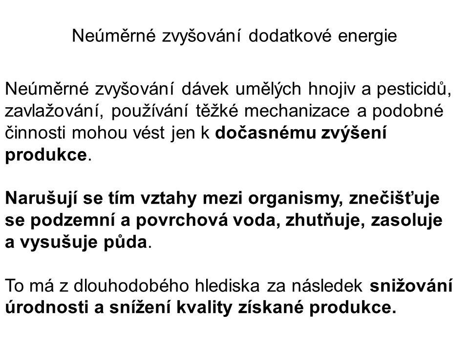 Neúměrné zvyšování dodatkové energie
