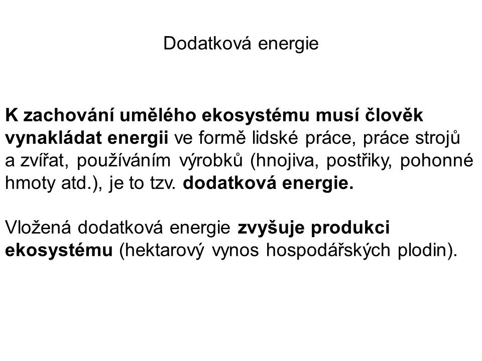 Dodatková energie