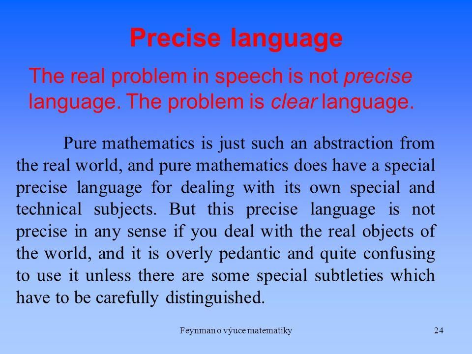 Feynman o výuce matematiky