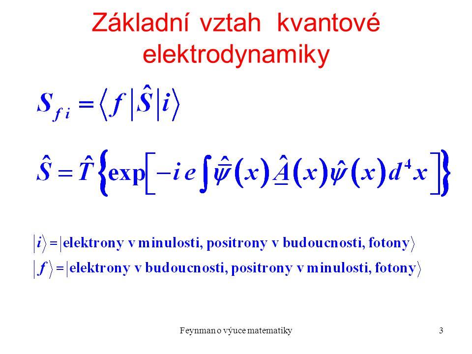 Základní vztah kvantové elektrodynamiky