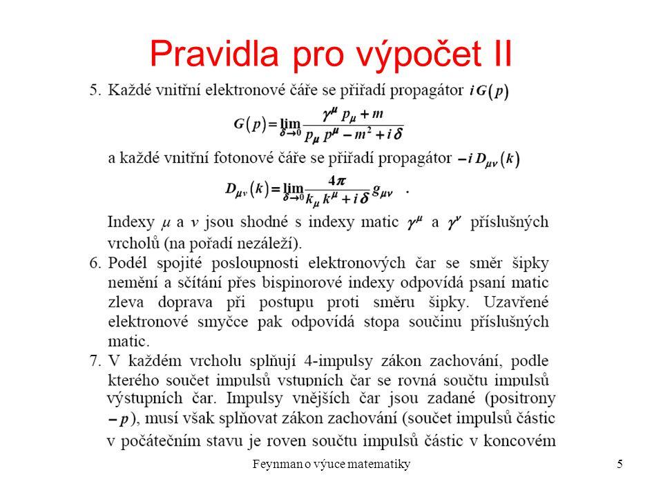 Pravidla pro výpočet II