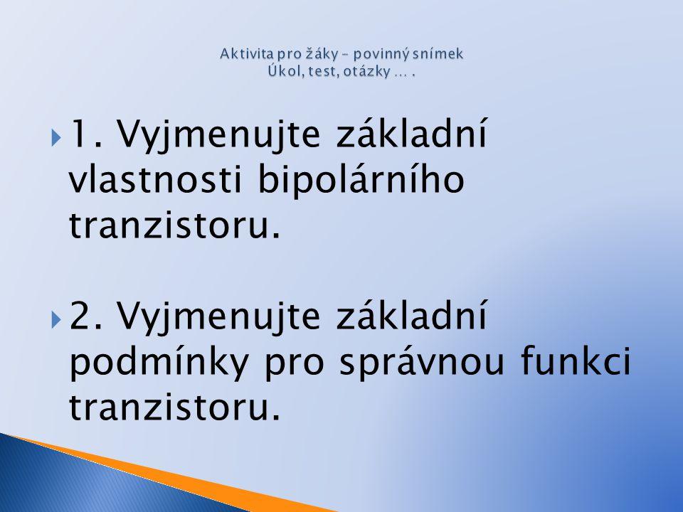 Aktivita pro žáky – povinný snímek Úkol, test, otázky … .