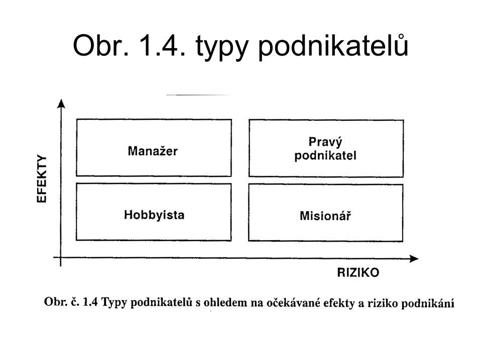 Obr. 1.4. typy podnikatelů