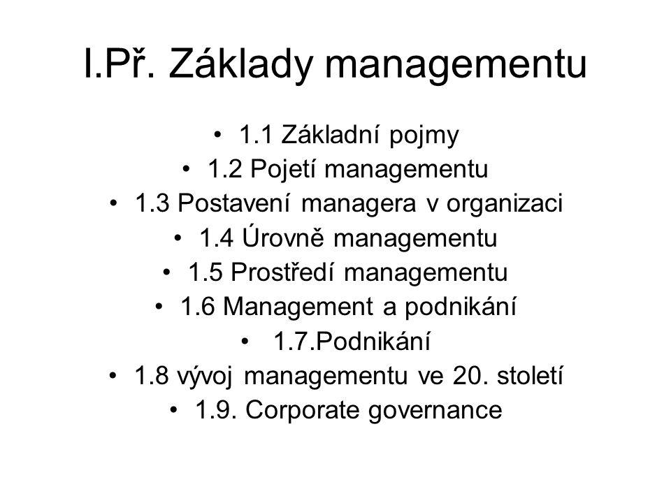 I.Př. Základy managementu